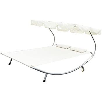 Amazon Com Outsunny Double Wide Patio Pool Hammock Bed