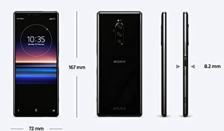 Sony Xperia 1 Dual SIM 128GB 6GB RAM J9110 Black: Amazon.es ...