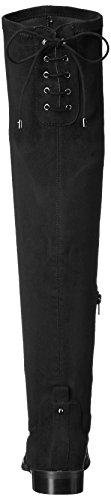 Kenneth Cole REACTION Women's Wind Chime Over The Knee Stretch Low Heel Winter Boot Black tumblr b93Ia