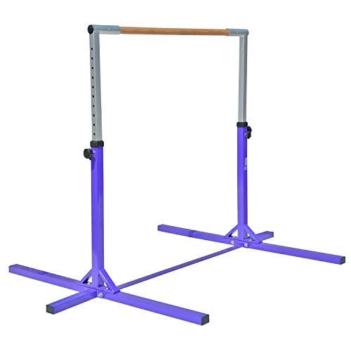 Modern-Depo Adjustable Height Kip Bar Pro | Junior Training Gymnastics Horizontal Bar Beech Wood - Purple by Modern-Depo (Image #1)