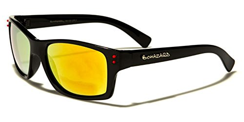 Biohazard - Lunette de soleil - Femme Multicolore Bigarré Black/red/yellow-orange mirror lens