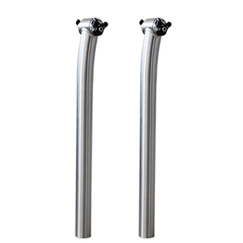 FidgetGear Titanium Alloy Bicycle Bike Cycle Setback Seatpost 27.2 30.9 31.6 x 350 400 mm ()