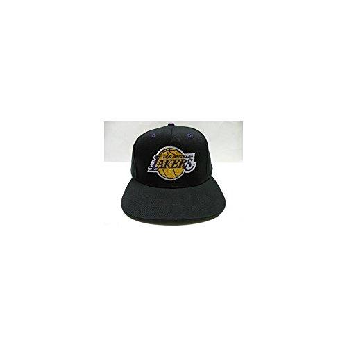332c38a58f935 NBA LA Lakers Black Retro Logo Snapback Cap Old School - Buy Online in  Oman.