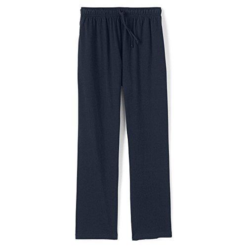 SGNOIEY Men's Pajamas Pants,100% Knit Cotton Sleep Long Lounge Pants-Blue XXL -