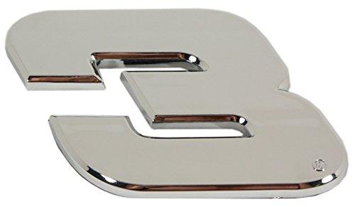 Dale Earnhardt Number Nascar (R and R Imports Dale Earnhardt #3 Chrome Emblem)