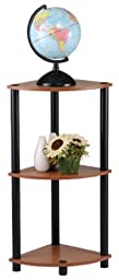 Momentum Furnishings PBF-0286-303 Corner Shelf , 3 Tier, Cherry