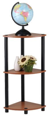 Momentum Furnishings PBF-0286-303 Corner Shelf , 3 Tier, (3 Shelf Corner Stand)