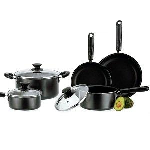 Revere Non Stick Aluminum 8 Piece Cookware Set