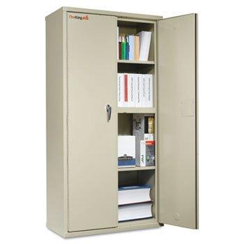 FireKing CF7236D Storage Cabinet, 36w x 19-1/4d x 72h, UL Listed 350°, Parchment