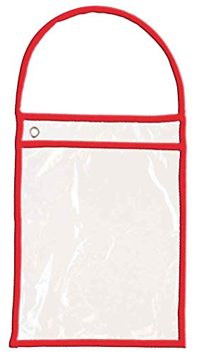 (Donkey Auto Products Premium Work Order Holders for Repair or Job Tickets (Pack of 25) (Clear with Red Handle))