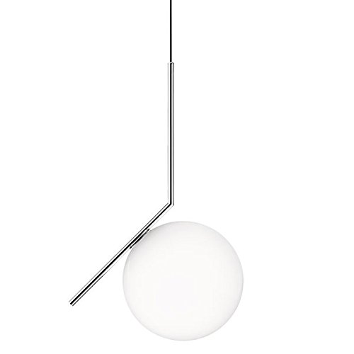 S2 Suspension Light (Flos IC S2 Suspension Lamp Blown Glass Chrome F3176057 Design Michael Anastassiades 2014)