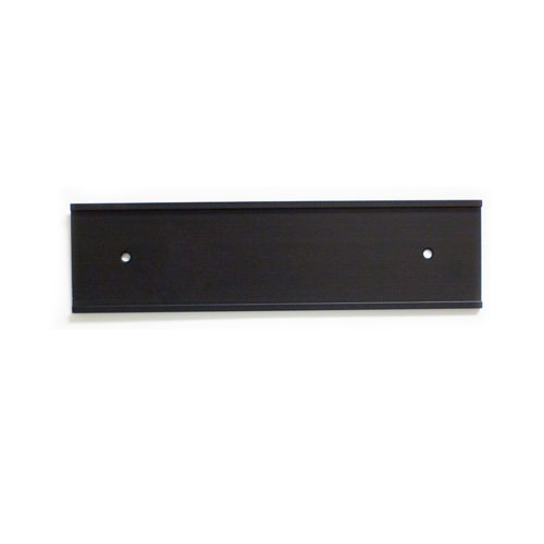 Wall Nameplate (Nameplate Holder - Wall or Door - Black 8 x 2 - 10 Pack - Made in the USA!)