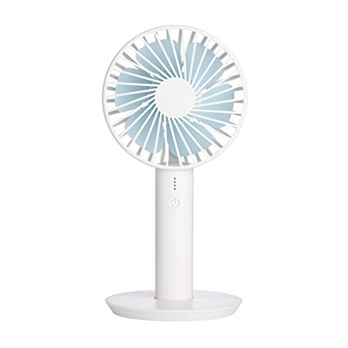 GETADATE Portable Mini Fan with Display Screen USB Rechargeable Hand-held Cooling Fan Powerful Airflow, Ideal for Trip, Disney, Office - White