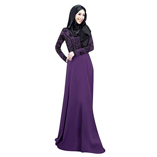 Purple Lora Women Long Abaya Kaftan Islamic Muslim s Women Dress Aro Autumn 8n6zPq8d
