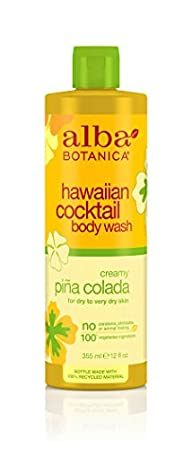 Alba Botanica Hawaiian, Pina Colada  Cocktail Body Wash, 12 Ounce