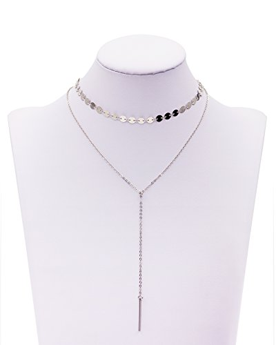 Boosic Choker Necklace Sequined Wrapped