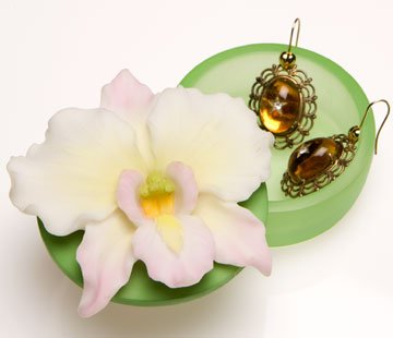 White Orchid Keepsake Box by Ibis & Orchid Design
