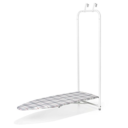 Polder Ironing Board - For Over-The-Door Hanging & Ironing - Includes Cover and Pad (Wall Hanging Ironing Board)