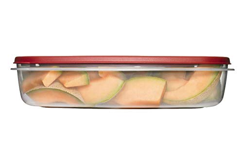 - Rubbermaid 1777163 24 Cup Rectangle Easy Find Lid Food Storage Container