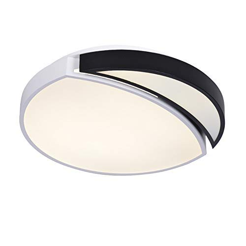 DJRM Chandelier Ceiling Lamp Modern Minimalist Atmosphere Home Fashion Lamp Bedroom Living Room Three-Color Round Study Room 45W Tri-Color Light