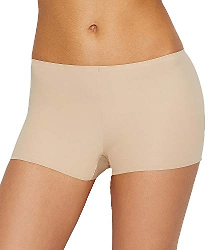 (TC Fine Intimates Wonderful Edge Matte Microfiber Boyshort, L, Nude)