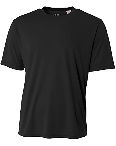 A4 Youth Cooling Performance Crew Short Sleeve T-Shirt, Black, Small
