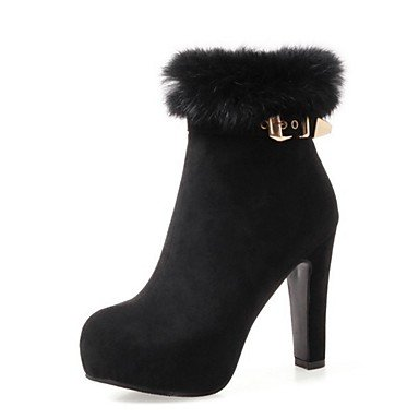 RTRY Women's Shoes Suede Fall Winter Comfort Novelty Fashion Boots Bootie Boots Chunky Heel Pointed Toe Booties/Ankle Boots Buckle Zipper For US4-4.5 / EU34 / UK2-2.5 / CN33 ItSonRXs