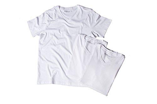 嬉しいです歩道絶対の綿100 インナー Vネック Tシャツ オーガニックコットン 5.3 オンス 3枚組 メンズ 4243 S~LLL