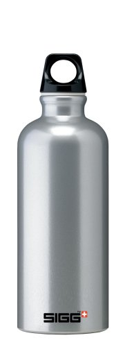 Sigg Traveler Classic Water Bottle (0.6-Liters, Silver)