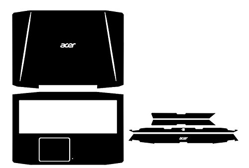 Special Laptop Black Carbon fiber Vinyl Skin Stickers Cover Guard for Acer Aspire VX 15 VX5 591 591G 15.6-inch