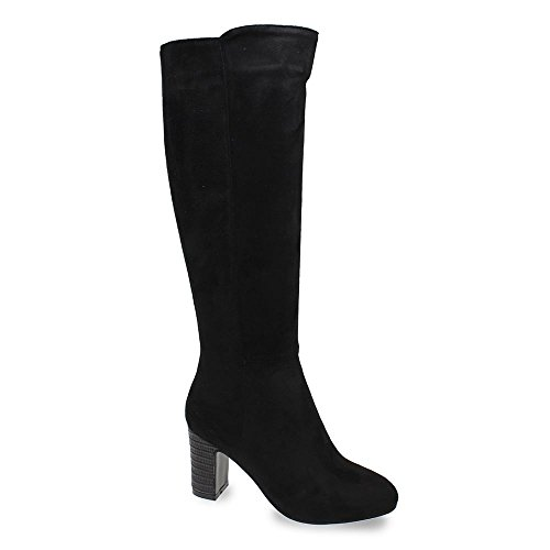 Lunar Gilmour Faux Suede Heeled Boot GLC636 Black Size 3 vOTjLw