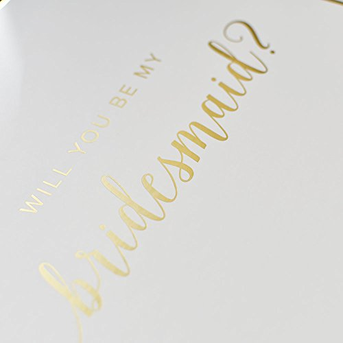 Bridesmaid Proposal Box with Gold Foiled Text | Set of 1 Empty Box | Perfect for Will You Be My Bridesmaid Gift and Wedding Present by Sunday Wedding Favorites (Image #2)
