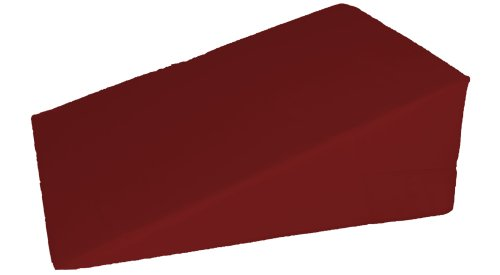 """UPC 704550348178, 7"""", 10"""", 12""""- inch Foam Bed Wedge Zippered Cover / Pillow Replacement COVER (24"""" x 24"""" x 10"""", Burgundy)"""