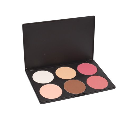 Fou panier Professional 6 Couleur cosmétique de maquillage rougissent Contour palette de poudre