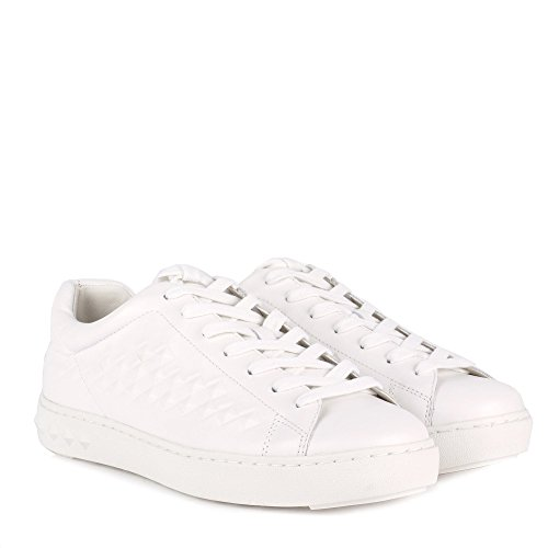 Ash Men's POWER Embossed Trainers White Leather White twZho1dGG