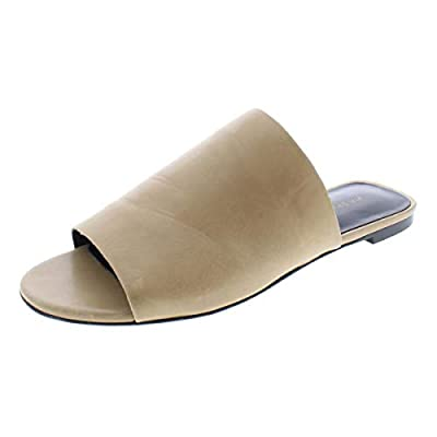 Via Spiga Womens Heather Leather Flats Slide Sandals