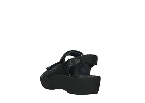 Wolky, Lady-sandalette, Juweel, 3204 12000 Zwarte Nubuck