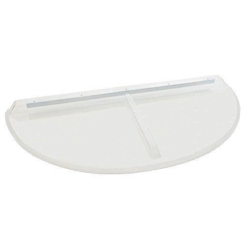 Polycarbonate Window - 48 in. x 22 in. Polycarbonate Circular Window Well Cover