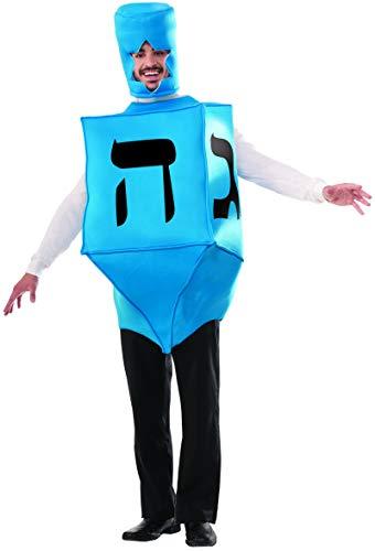 Forum Novelties Men's Dreidel Hanukkah Costume, Blue, One Size -