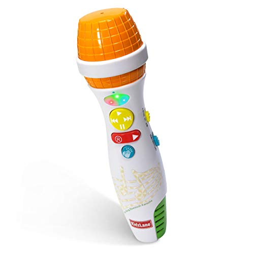 Kidzlane Kids Karaoke Microphone with Bluetooth, Voice Changer, and 10 Built-in Nursery Rhymes -