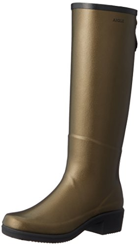 Miss Goldbronze Rubber Juliette Boots Aigle Black Womens pUx7Xp4