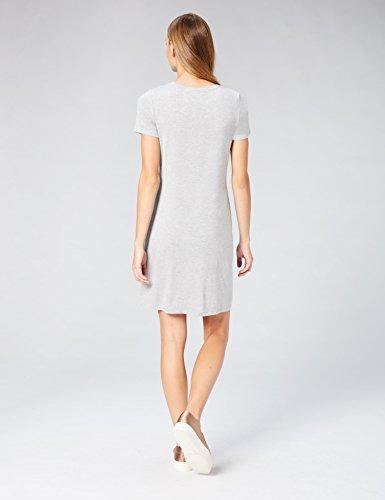 Daily Scoop T Short Neck Light Sleeve Dress Women's Shirt Grey Ritual Jersey Heather 1CqXrw1