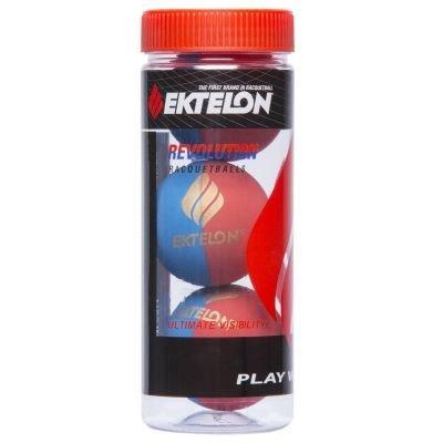 Ektelon Red Blue Revolution Racquetball Balls  Can   3 Balls   1