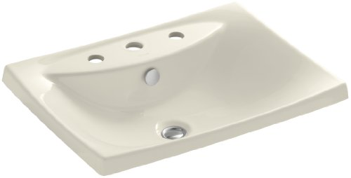 KOHLER K-19029-8-47 Escale Self-Rimming Bathroom Sink with 8