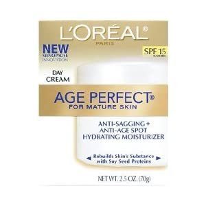 L'Oreal Paris, Age Perfect Day Cream for Mature Skin with Soy Seed Proteins, SPF 15, 2.5-Ounce