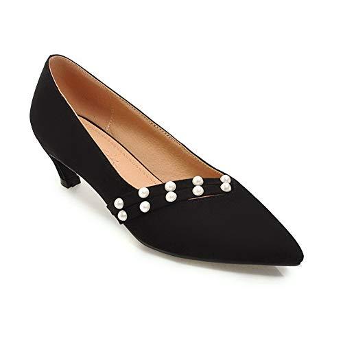 Compensées AdeeSu SDC05845 Femme Sandales Noir Ezfaqzw