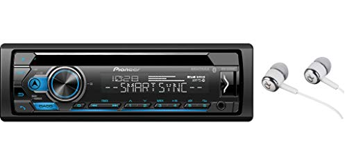 Pioneer DEH-S4120BT in Dash CD AM/FM Receiver with MIXTRAX, Bluetooth Dual Phone Connection, USB, Spotify, Pandora Control, iPhone and Android Music Support, Smart Sync App/Free Alphasonik Earbuds (In Dash Car Stereo Cd Player)
