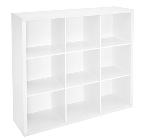 Bookcase Wall System (ClosetMaid 1110 Decorative Storage 9 Cube Organizer, White)