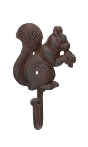 - Iron Squirrel Coat Hook by Upper Deck