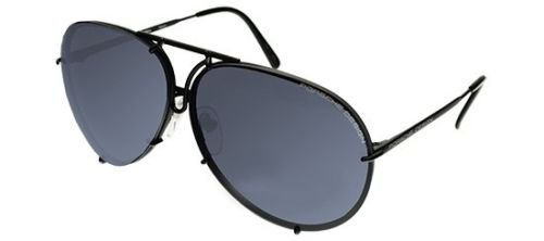 PORSCHE DESIGN P8478 D Aviator Sunglasses Black Matte Frame Size 69 + Extra - Porsche Designs Sunglasses